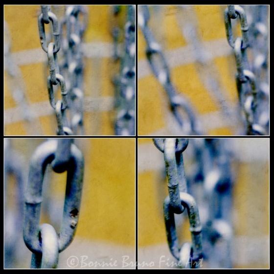 Set of 4 Chain Link art prints